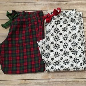 OLD NAVY set of 2 Christmas flannel PJ pants
